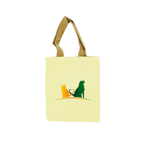 Tote Bag Art Cat and Dog